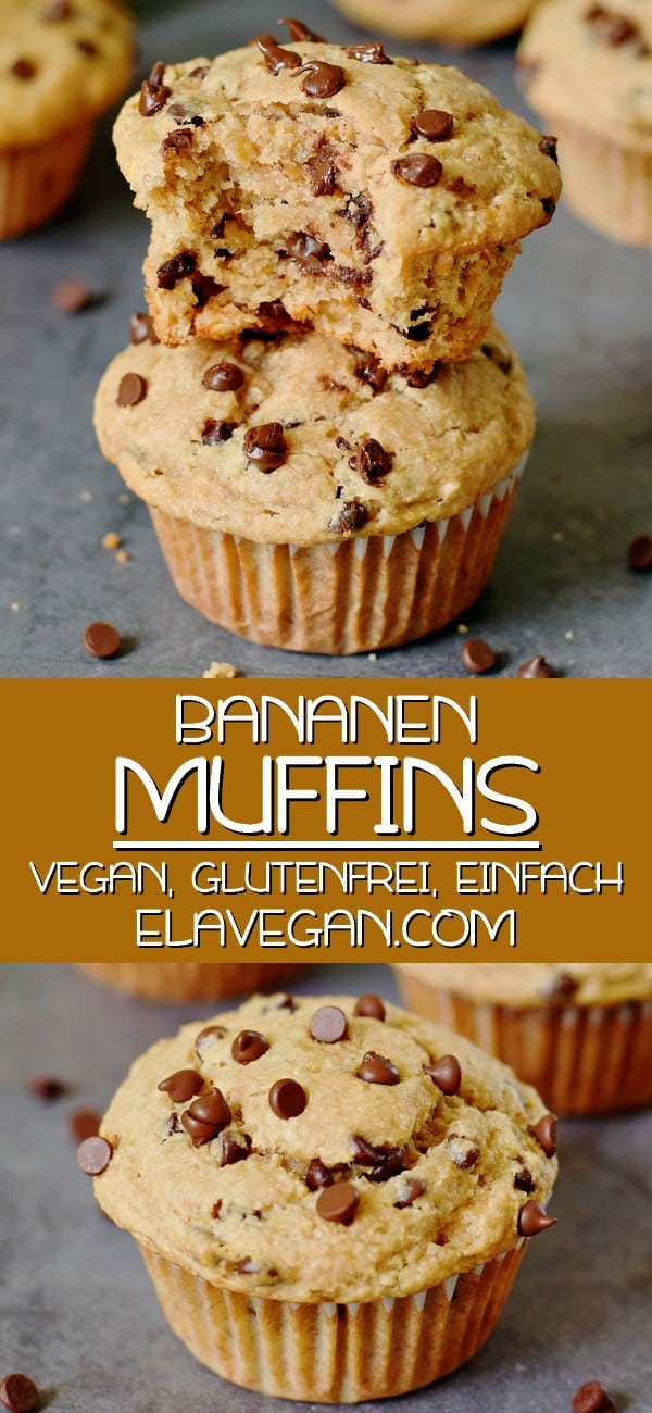 Pinterest Collage Bananenmuffins vegan