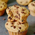 Vegane Bananen Muffins mit Schokodrops