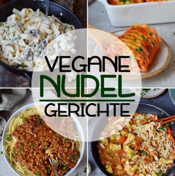 collage vegane nudelgerichte