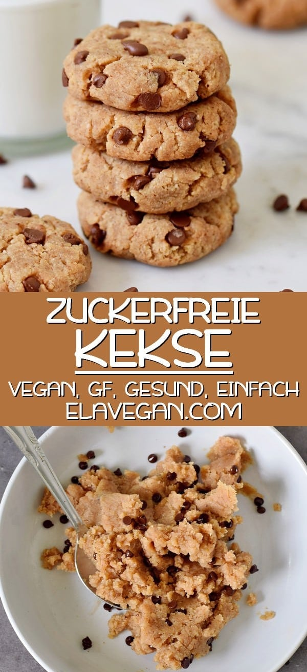 Pinterest Collage Kekse ohne Zucker vegan