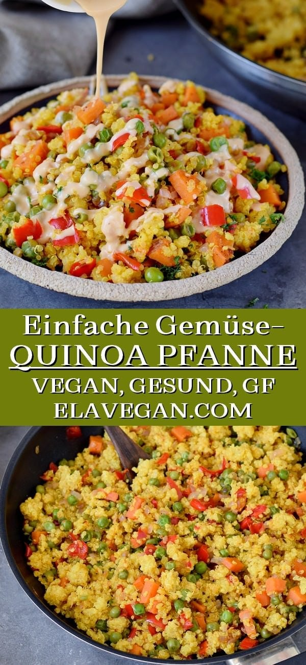 Pinterest Collage Quinoa Gemüsepfanne