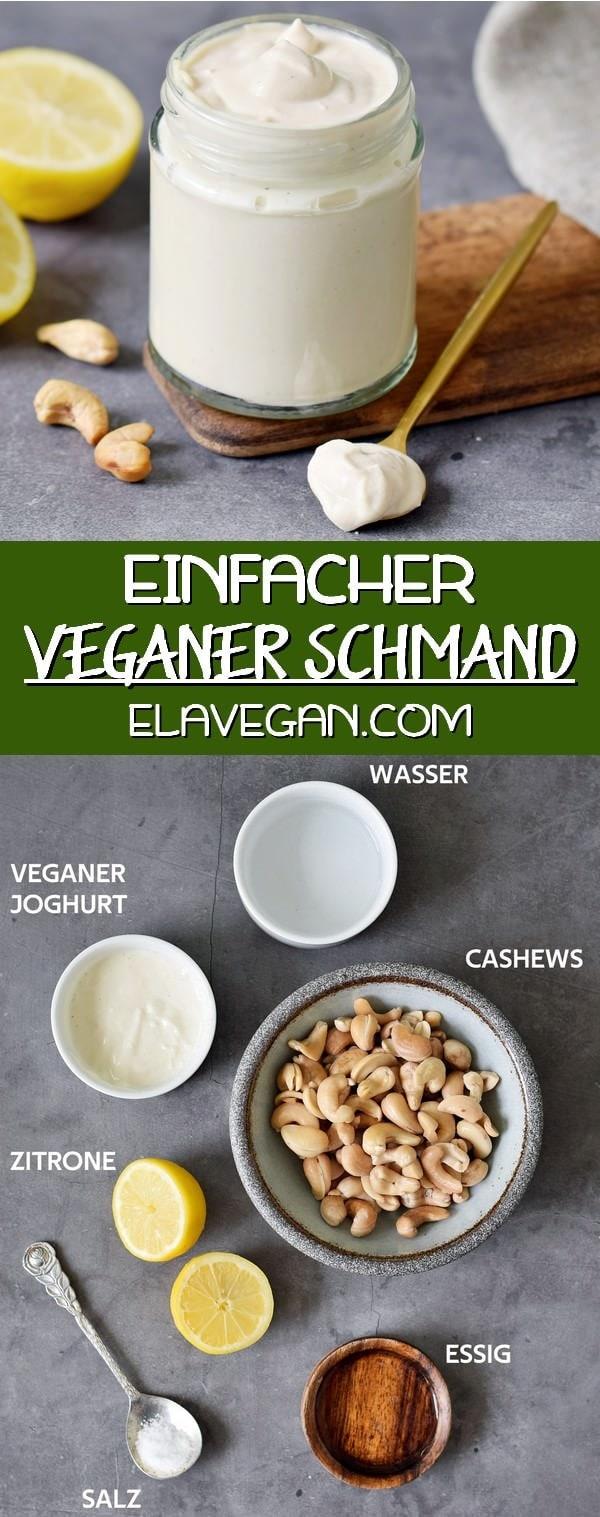 pinterest collage einfacher veganer schmand