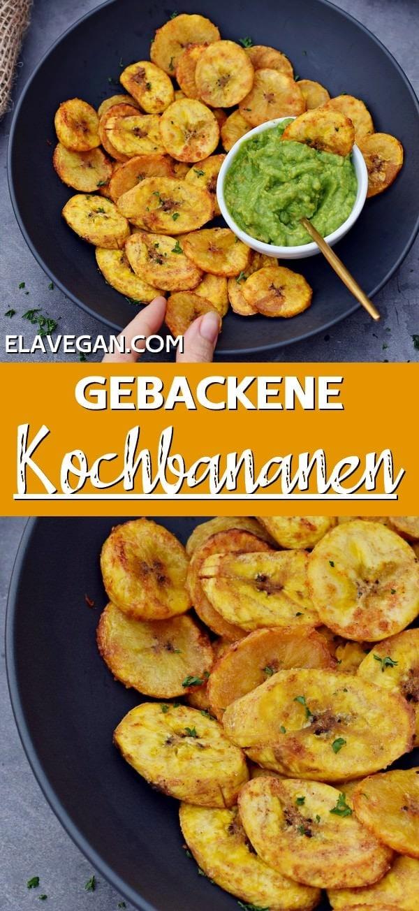 Pinterest Collage gebackene Kochbananen