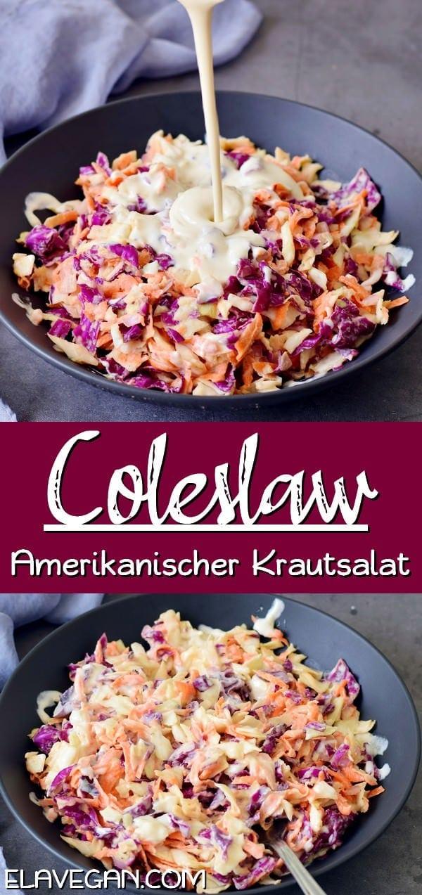 pinterest collage Coleslaw amerikanischer Krautsalat