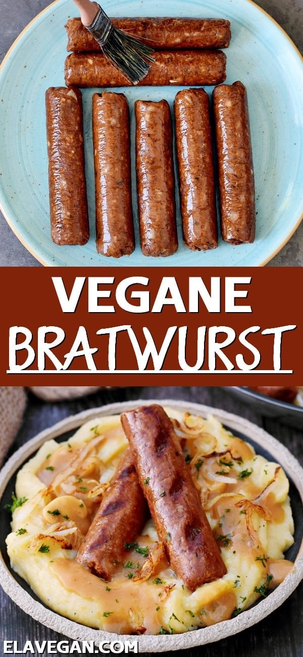 pinterest collage vegane Bratwurst