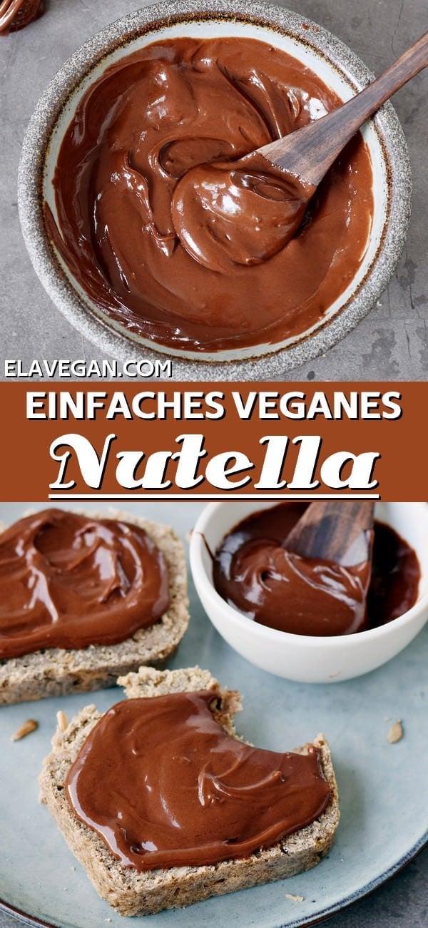 Pinterest Collage einfaches veganes Nutella