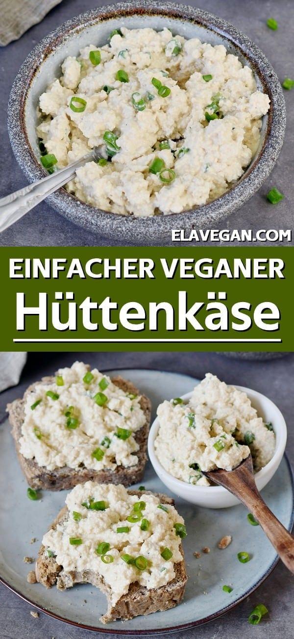 pinterest collage einfacher veganer hüttenkäse