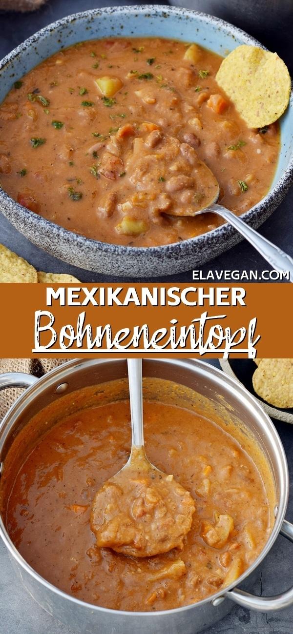 Pinterest Collage Mexikanischer Bohneneintopf
