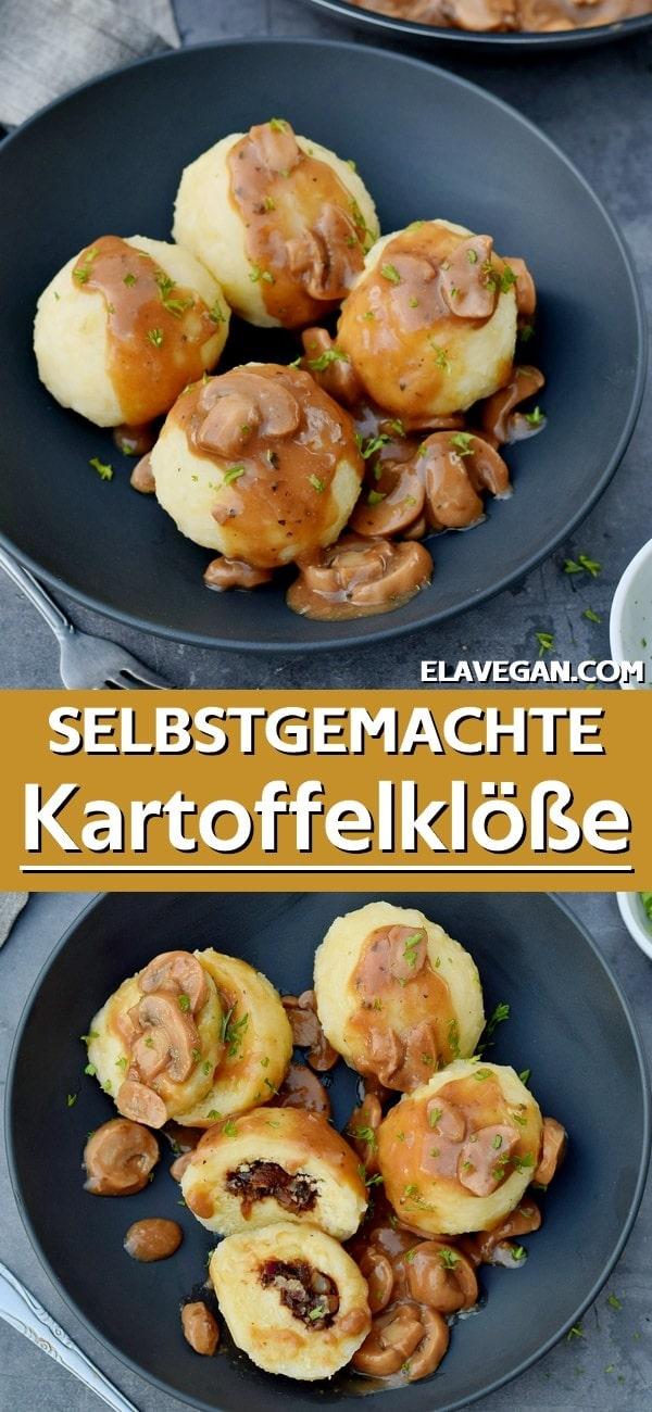 pinterest collage selbstgemachte kartoffelklöße