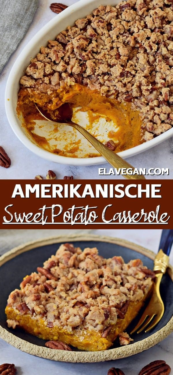 Pinterest Collage Sweet Potato Casserole amerikanisch