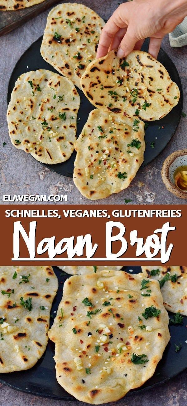 Pinterest Collage naan brot vegan glutenfrei schnell