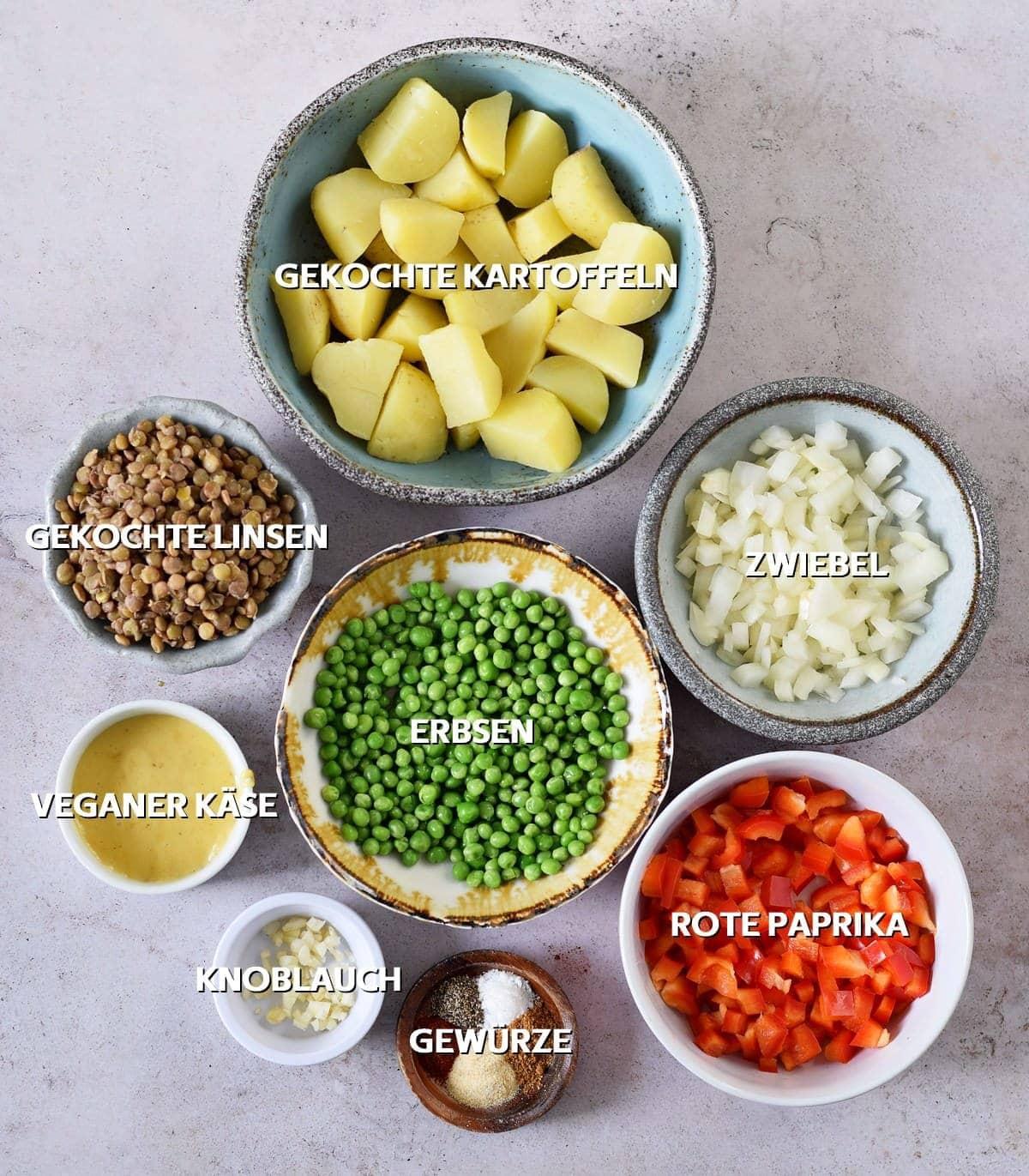 Empanada Füllungszutaten