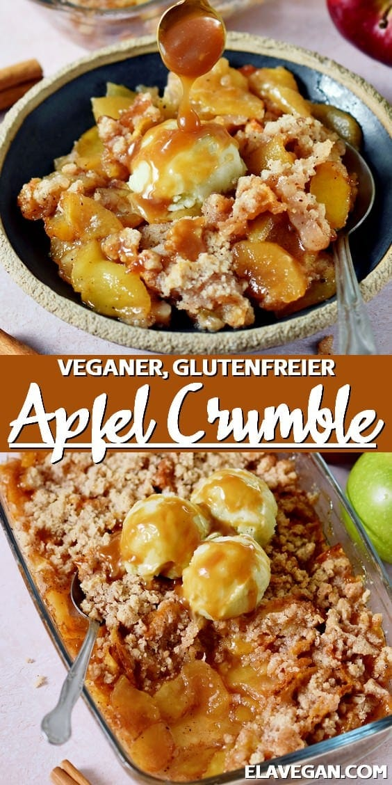 Pinterest Collage Apfel Crumble, vegan, glutenfrei