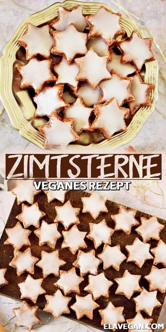 Pinterest Collage vegane Zimtsterne