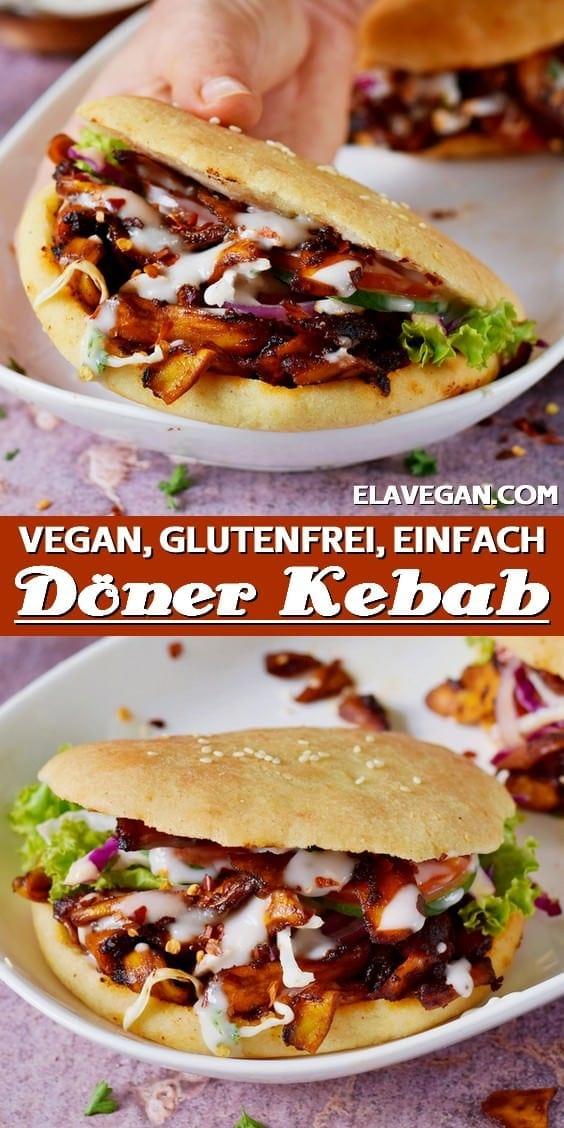 Pinterest Collage veganer Döner Kebab