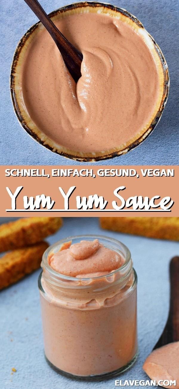 Pinterest collage Yum Yum Sauce veganer Dip