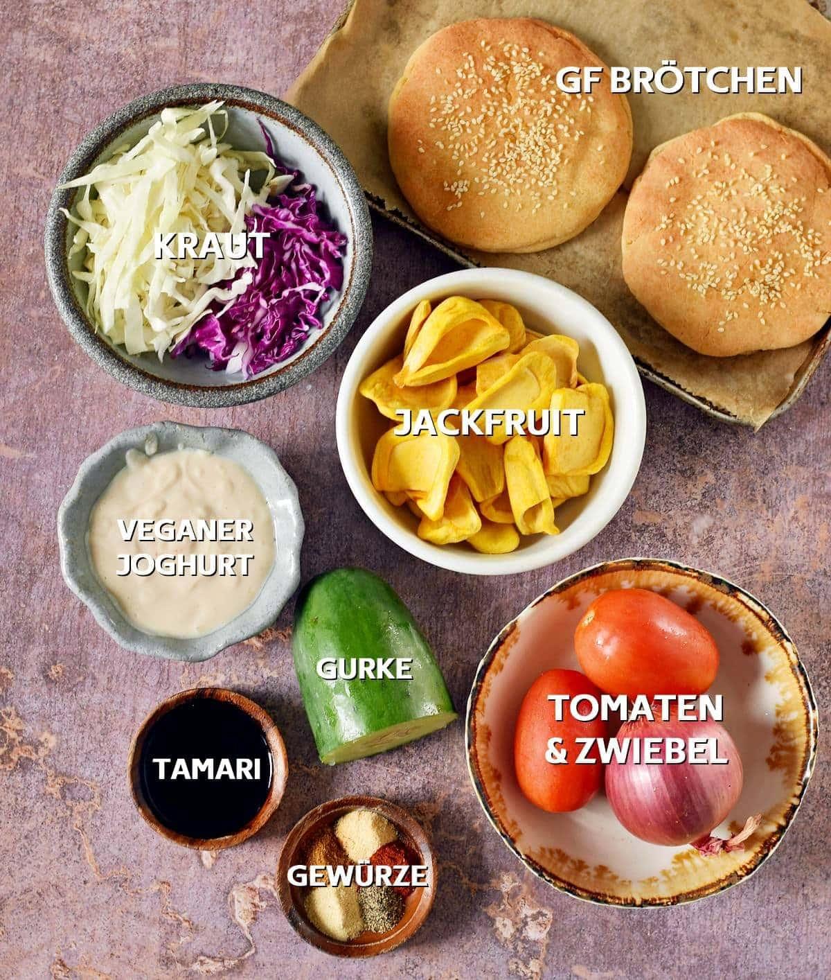 Zutaten für Döner Kebab (vegan)