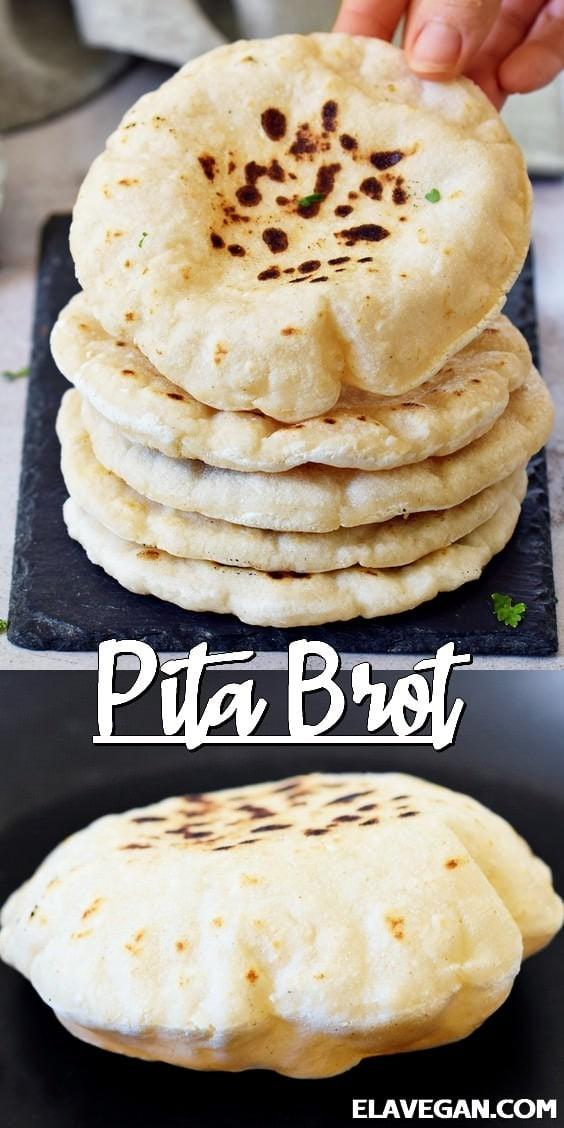Pinterest Collage Pita Brot