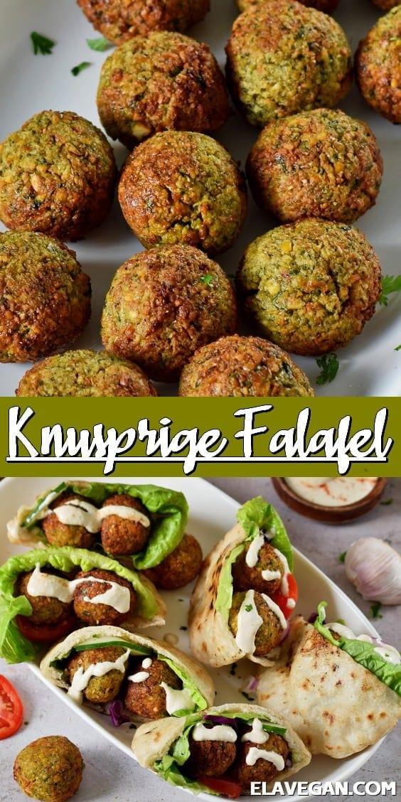Pinterest Collage knusprige Falafel