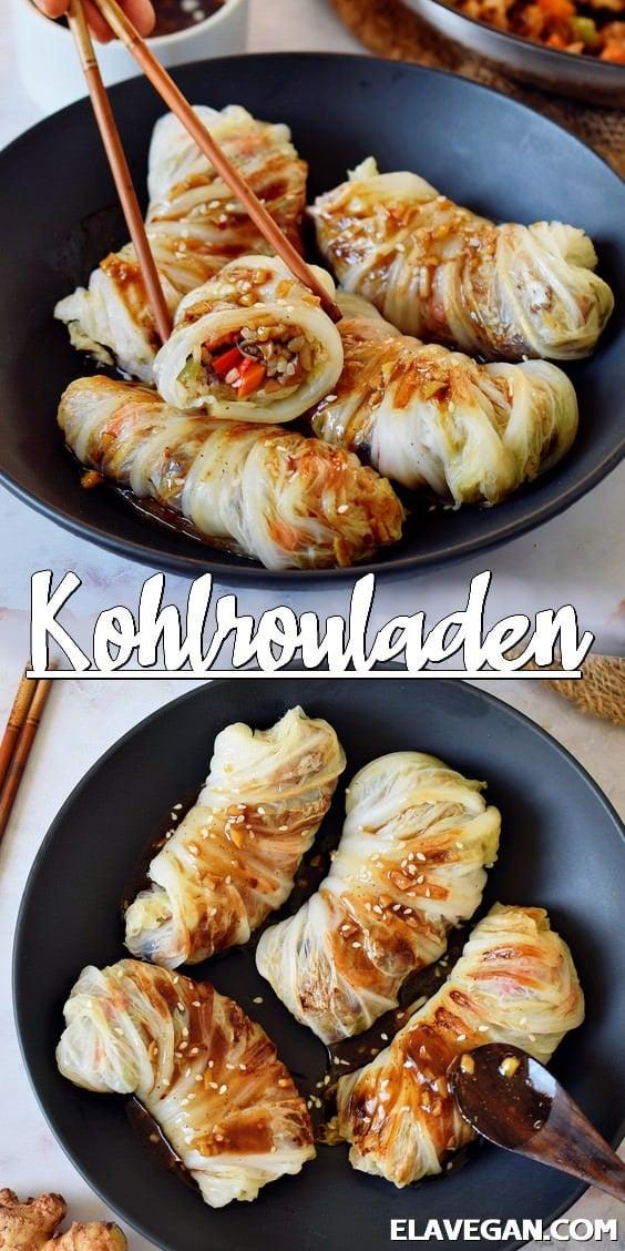 Pinterest Collage vegane Kohlrouladen