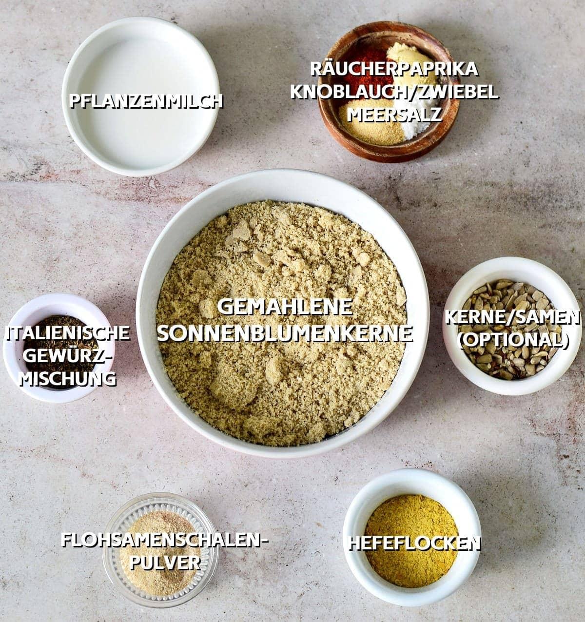 Zutaten für Salzgebäck