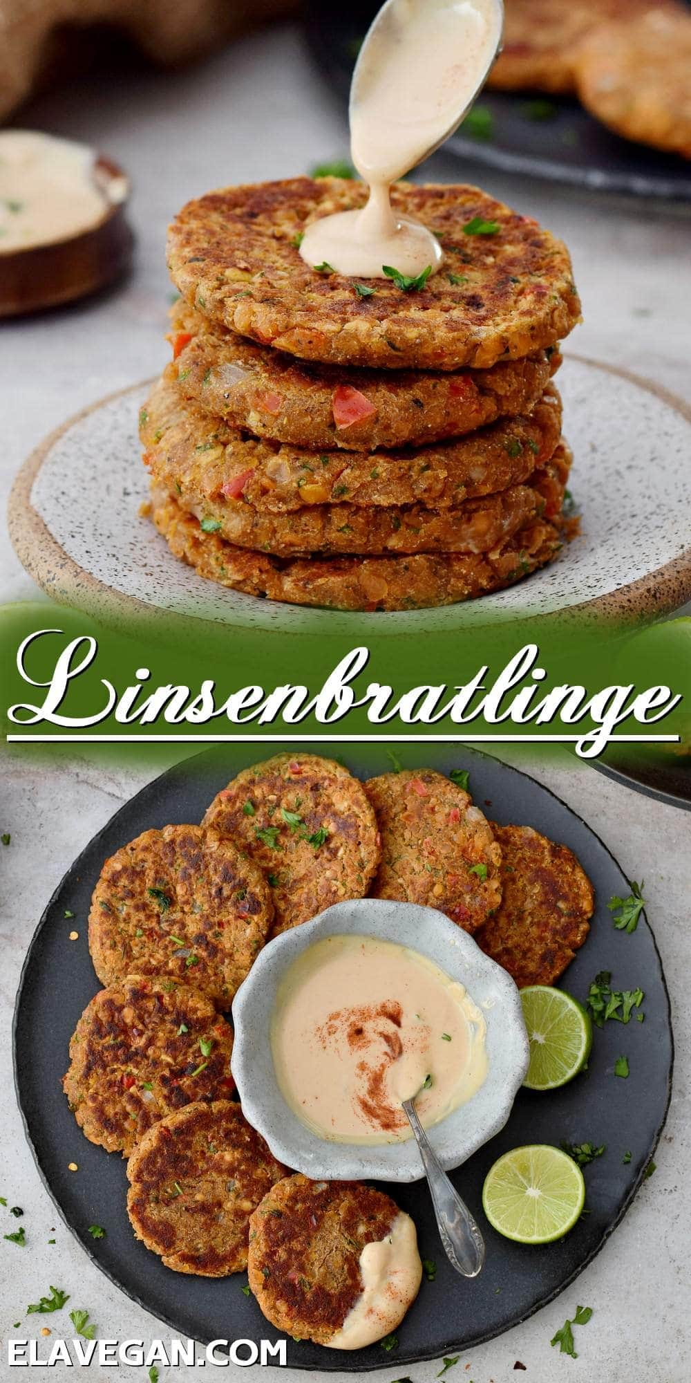 Pinterest collage Linsenbratlinge