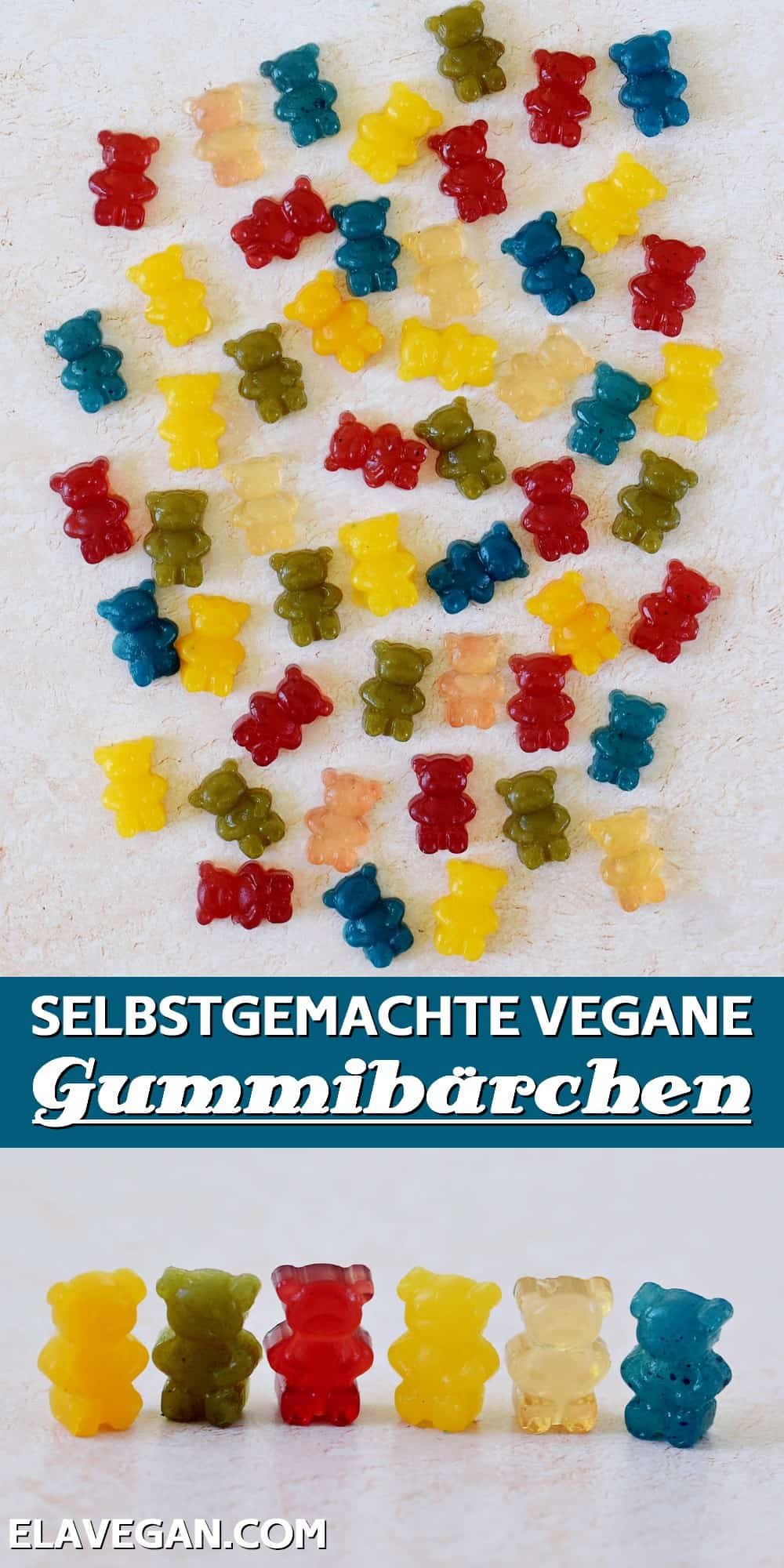 Pinterest collage vegane Gummibärchen selber machen