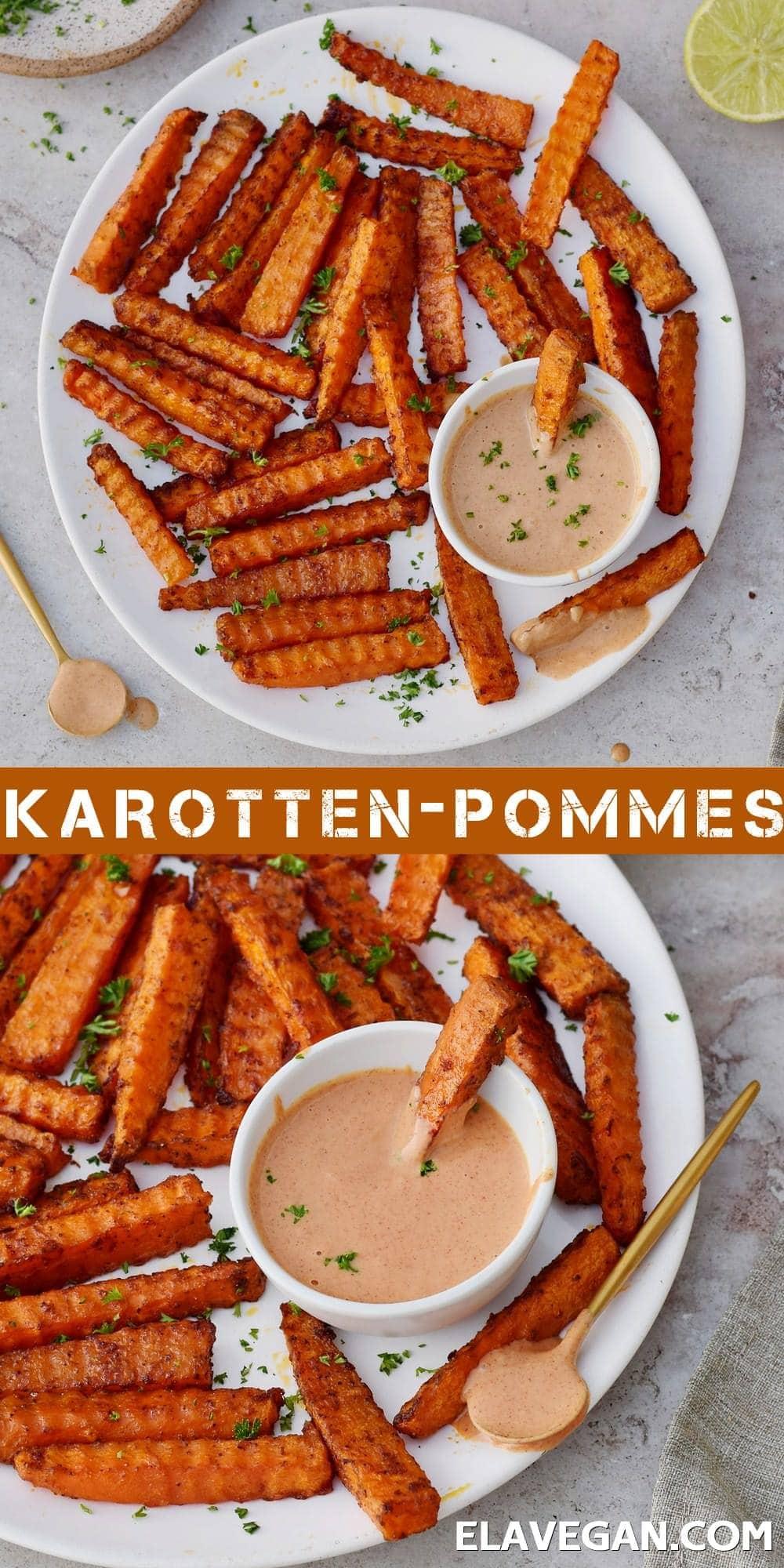 Pinterest Collage Karotten-Pommes
