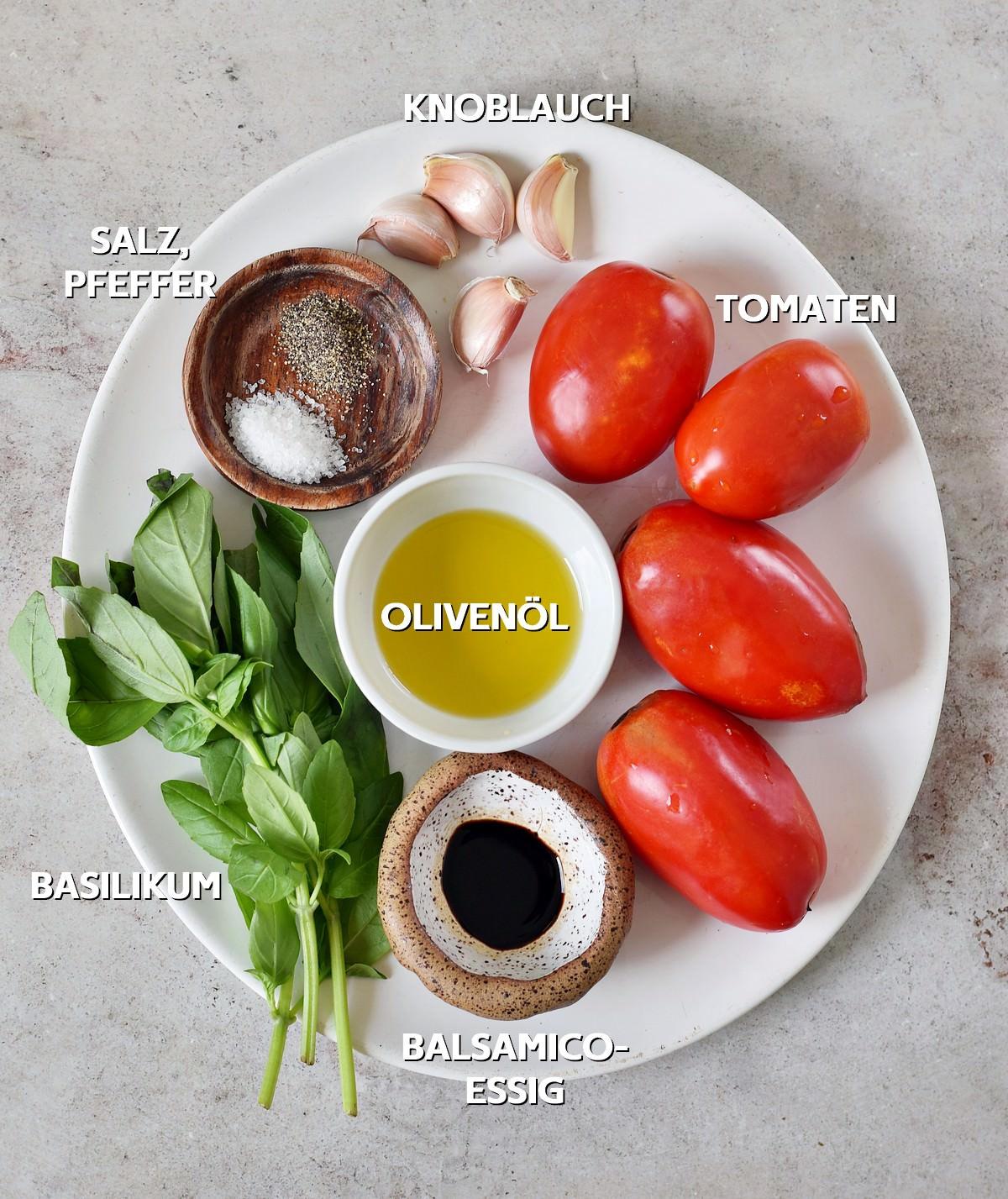 Zutaten für Bruschetta