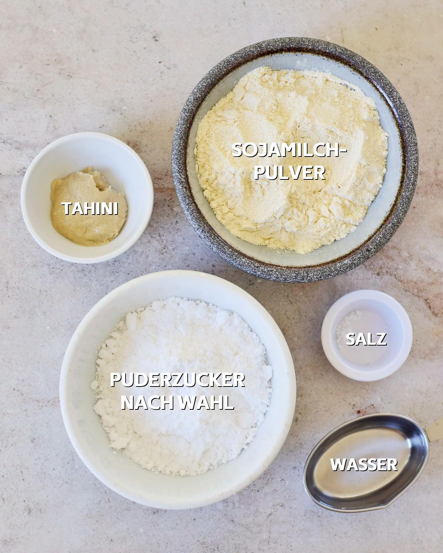 Zutaten für selbstgemachte Kondensmilch
