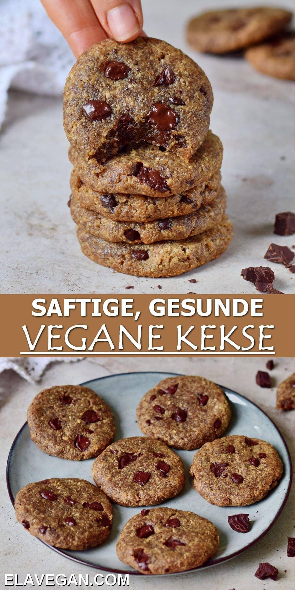 Pinterest Collage saftige gesunde vegane Kekse