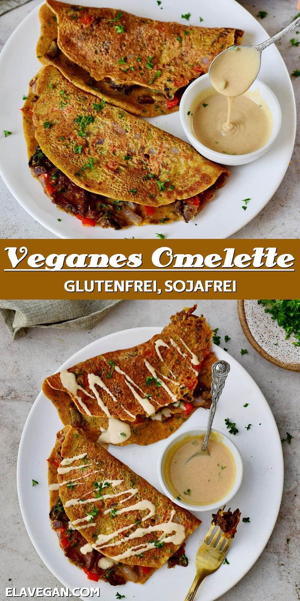 Pinterest collage veganes Omelette glutenfrei sojafrei