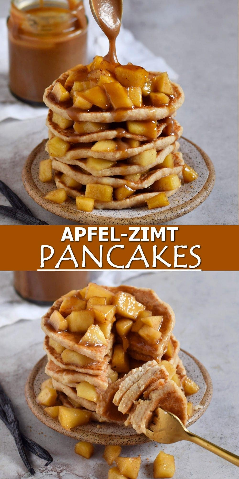Pinterest Collage Apfel-Zimt Pancakes