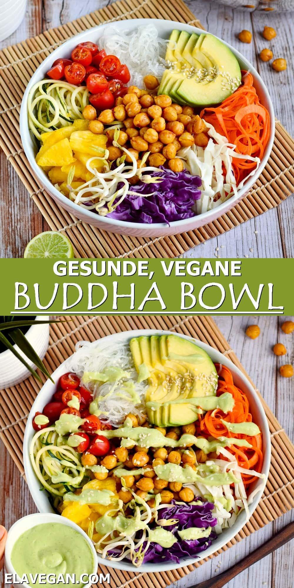 Pinterest collage gesunde vegane Buddha Bowl