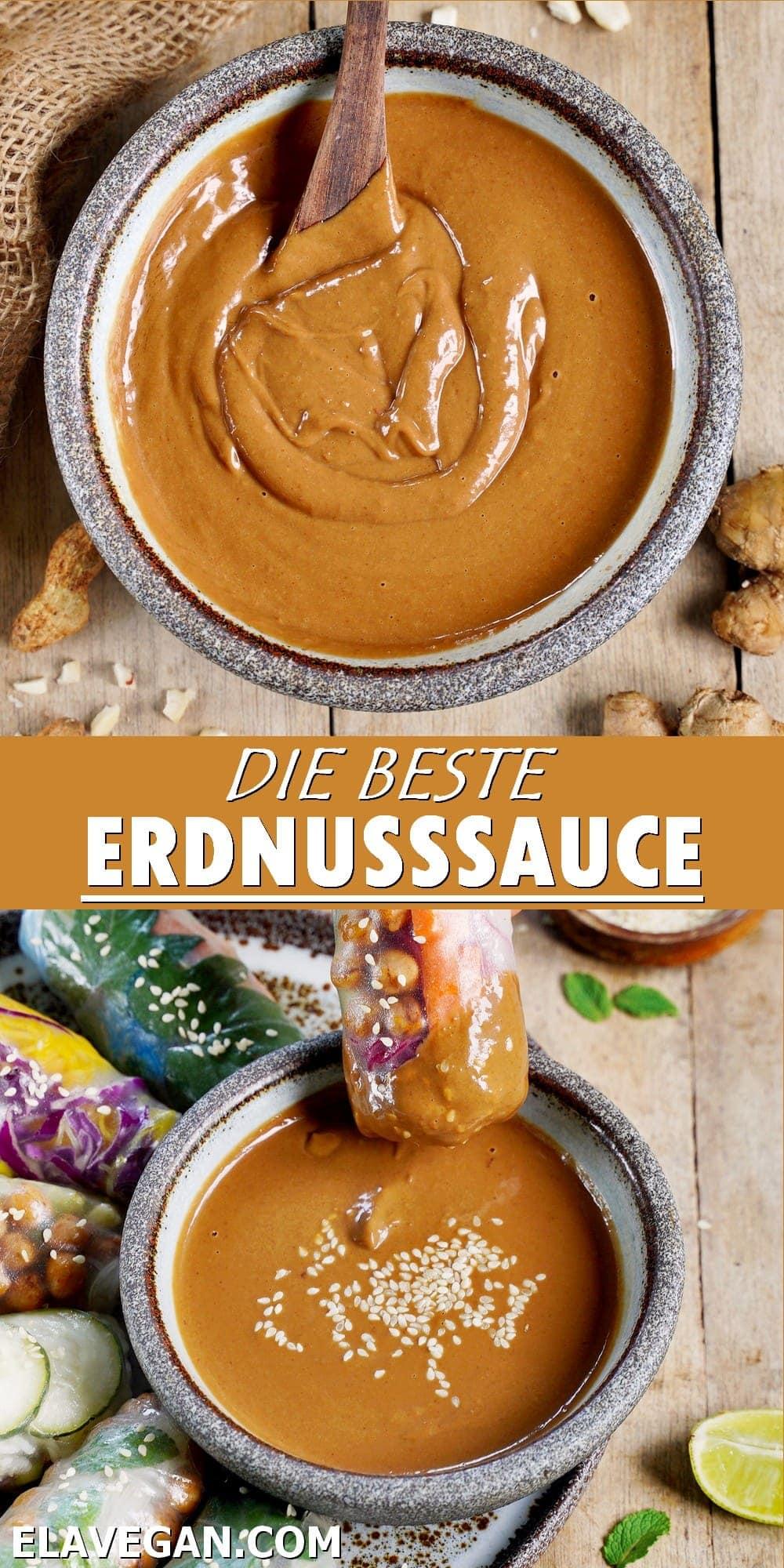 Pinterest Collage die beste Erdnusssauce