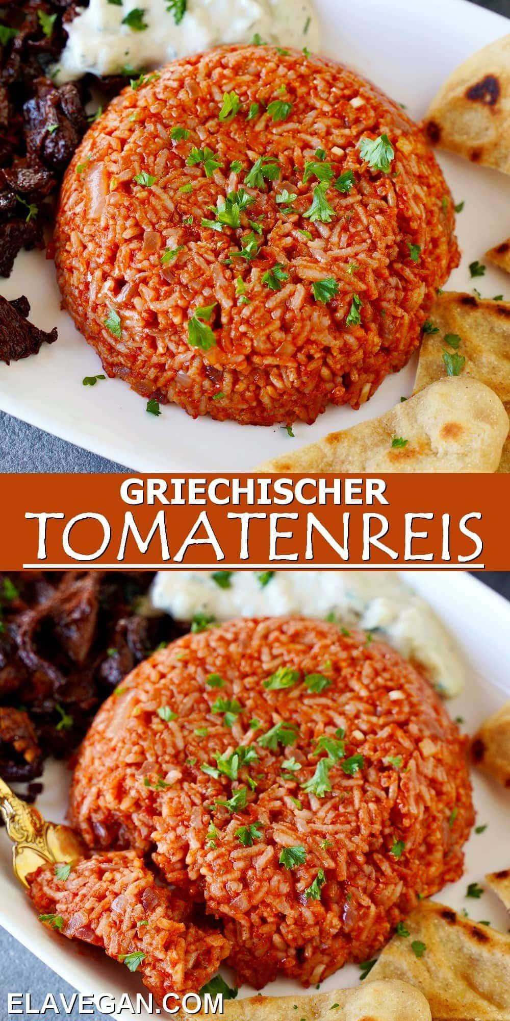 Pinterest Collage griechischer Tomatenreis