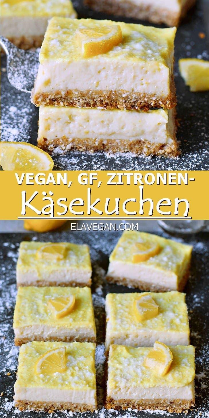 Vegan, Glutenfrei, Zitronen-Käsekuchen