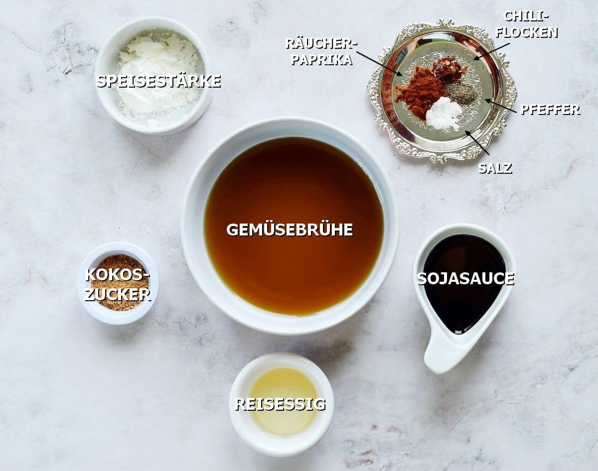 Zutaten für die Sauce