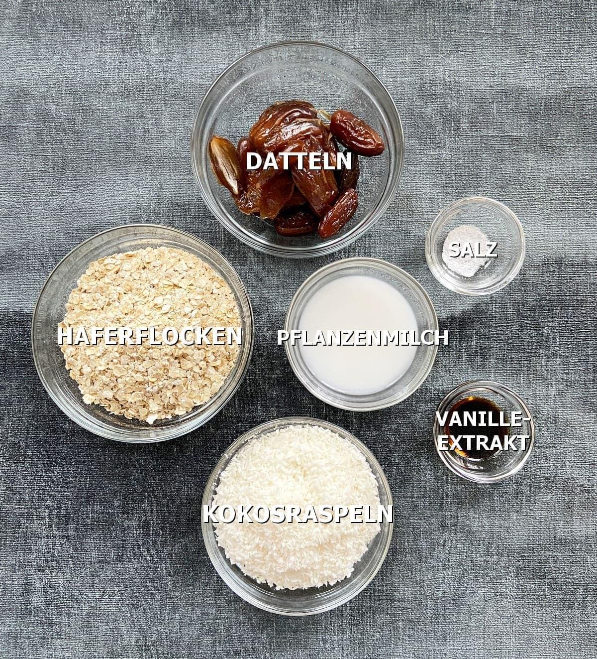 Zutaten für glutenfreien Kuchenboden