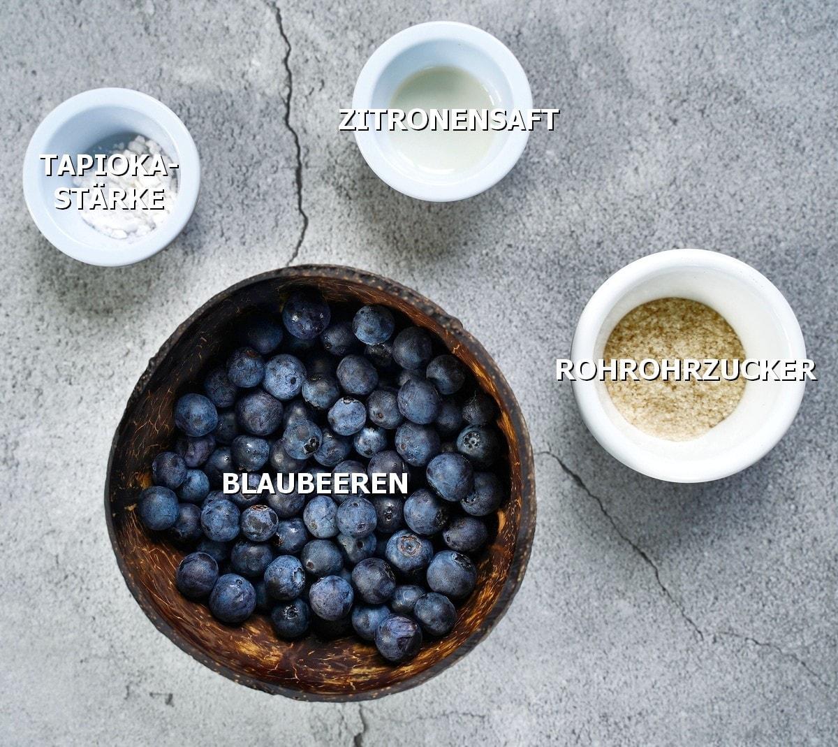 Zutaten für Blaubeer-Füllung