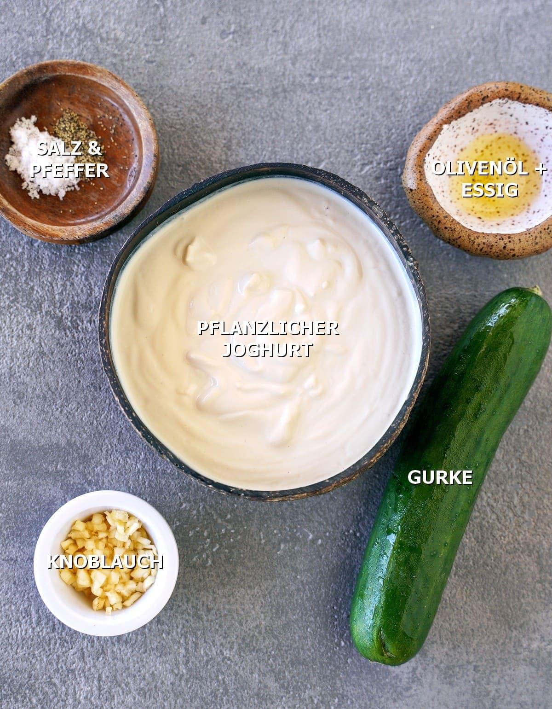Zutaten für Joghurtsauce