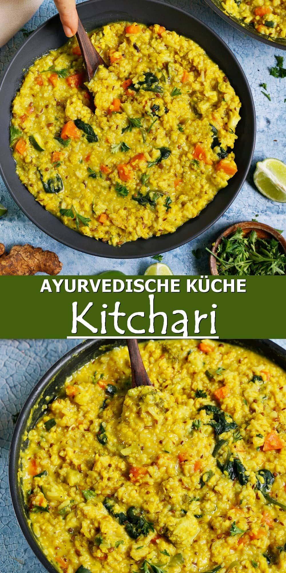 Pinterest Collage Ayurvedische Küche - Kitchari