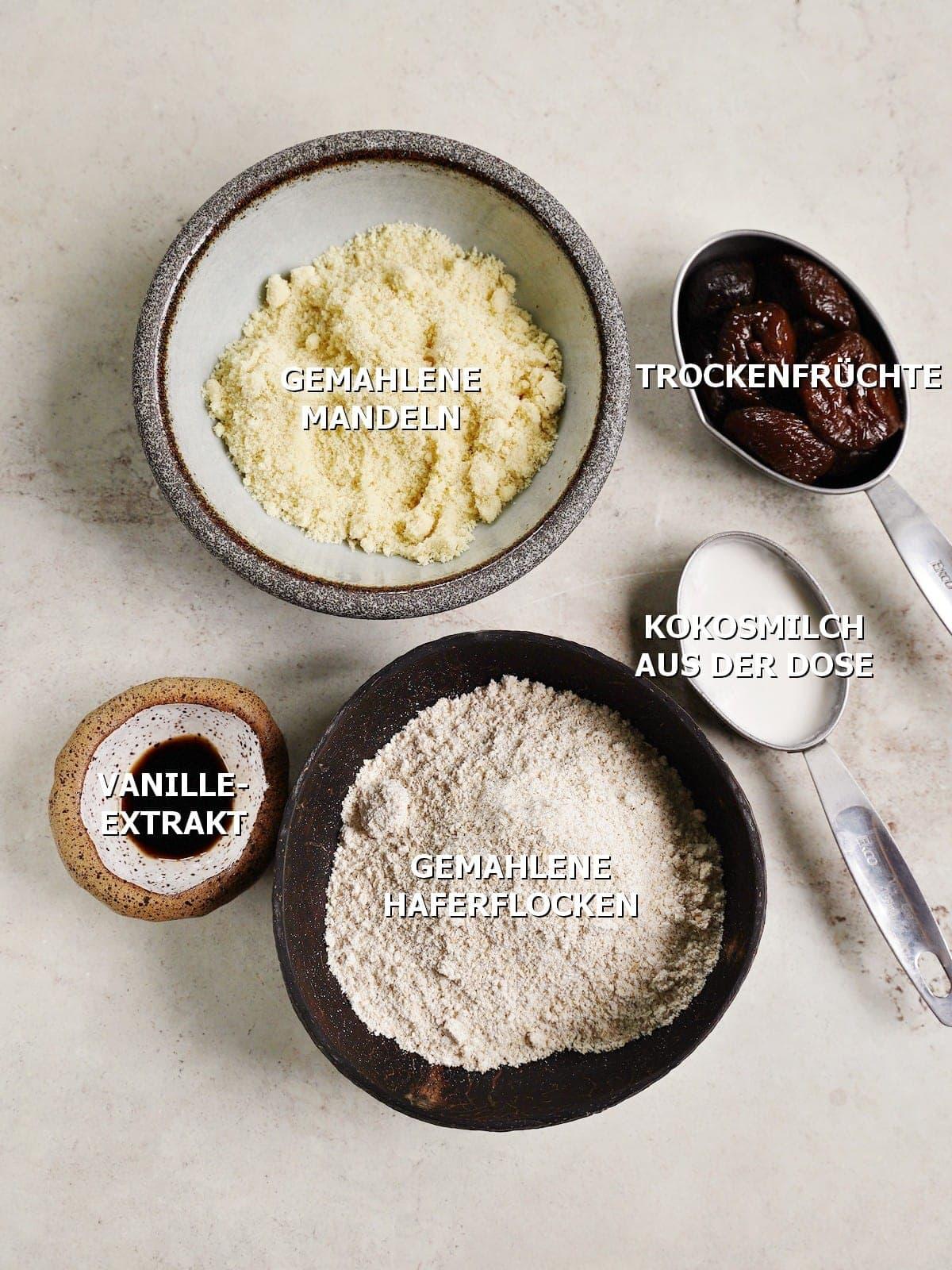 Zutaten für Kuchenboden