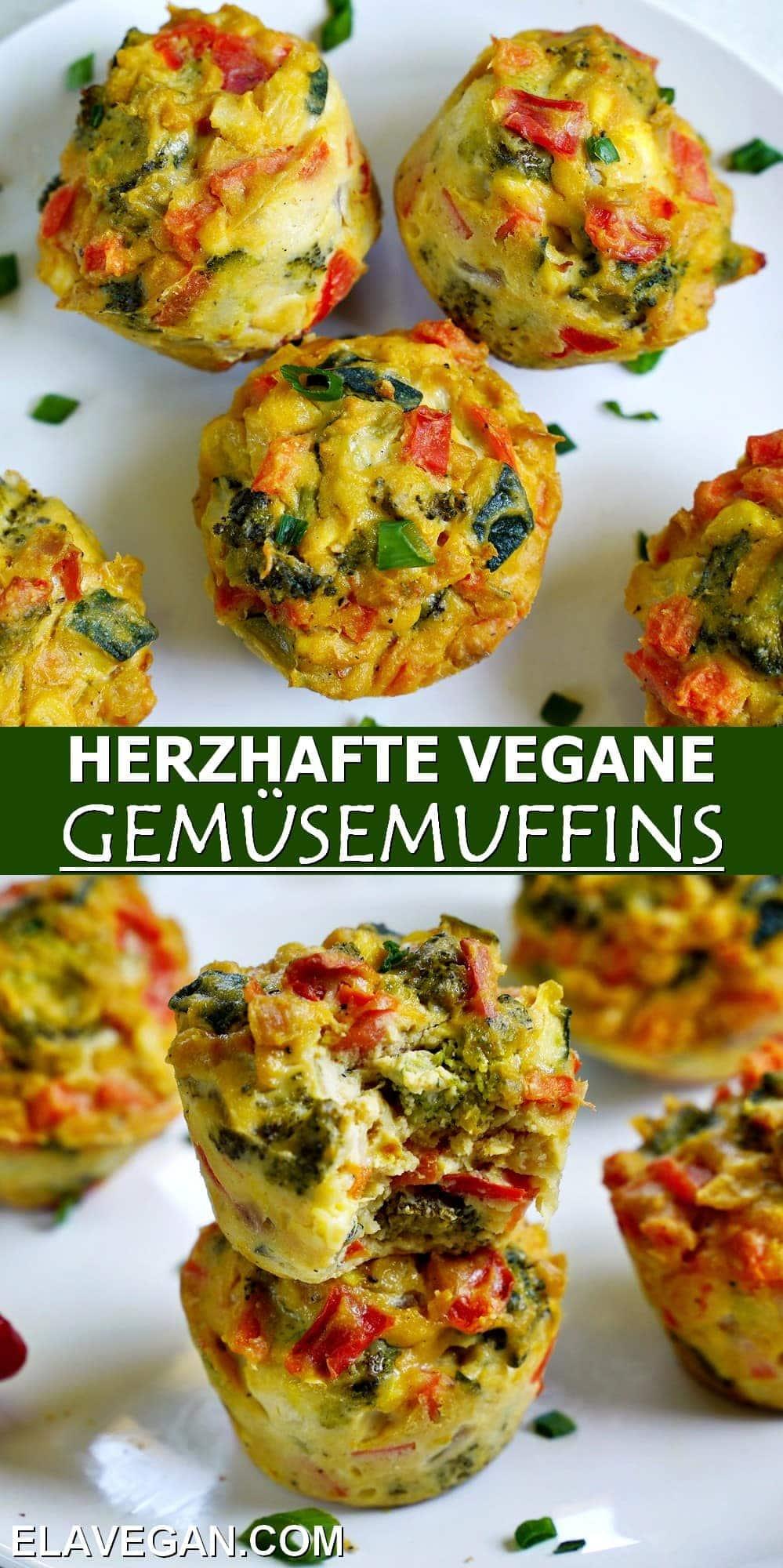 Pinterest Collage herzhafte vegane Gemüsemuffins