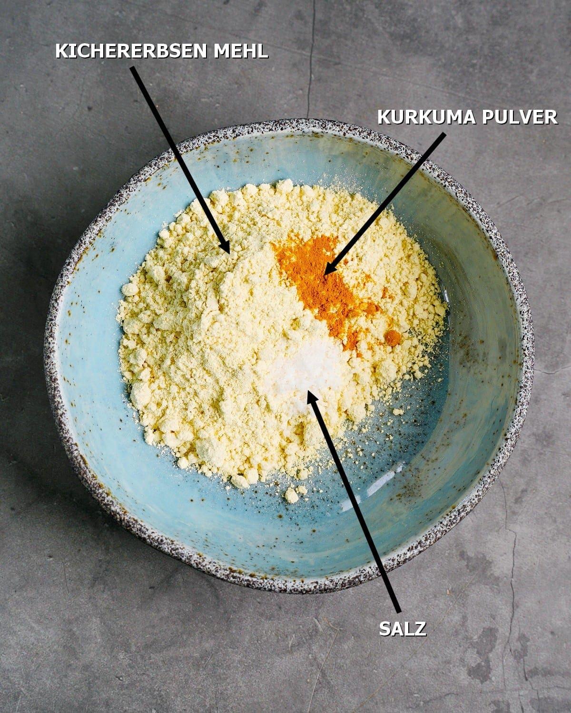 Zutaten für Kichererbsen-Tofu