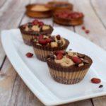 Vegan peanut butter chocolate cupcakes