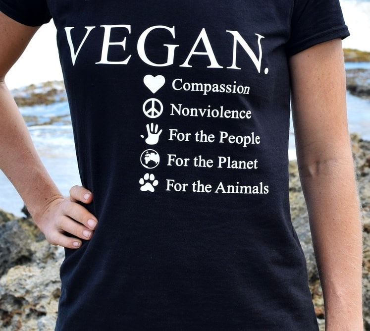 reasons to go vegan t-shirt for the people, for the planet, for the animals
