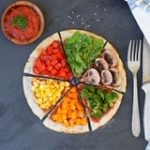 Sweet potato pizza crust with vegetables