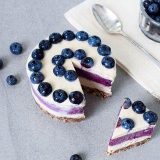 Raw vegan blueberry cheesecake recipe no bake