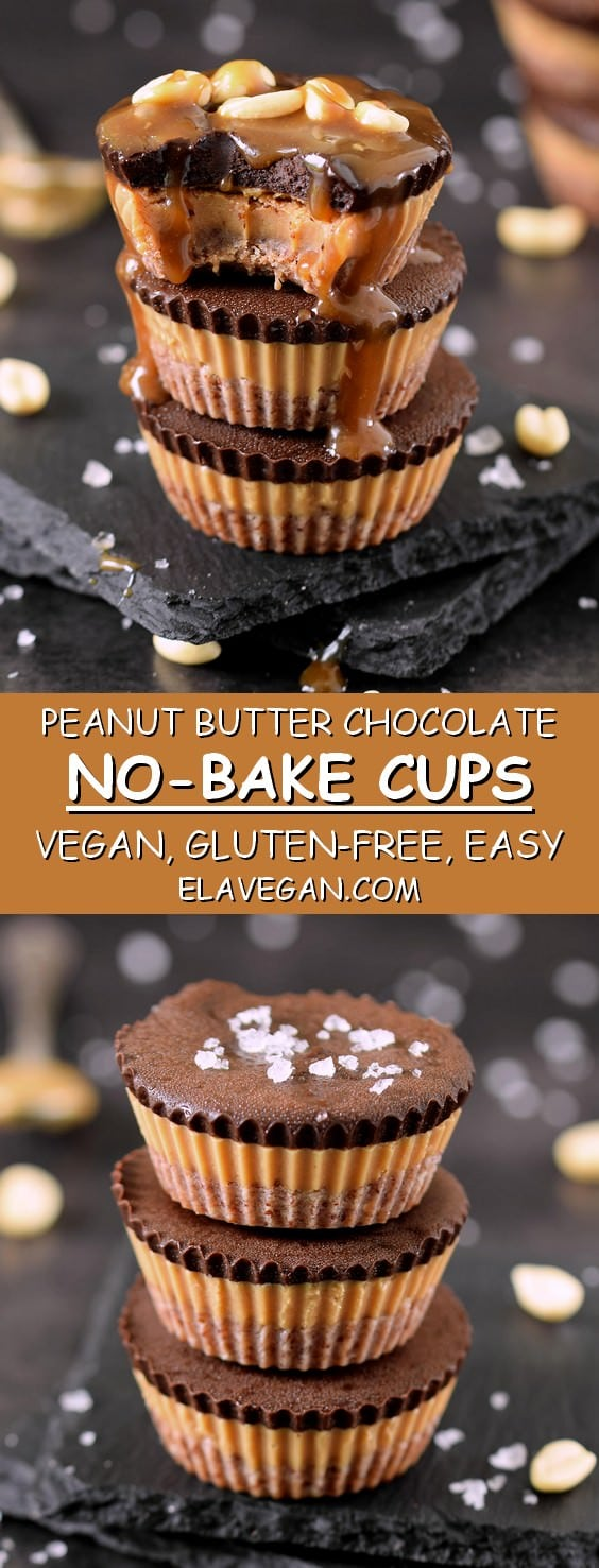 vegan peanut butter chocolate cups gluten-free recipe